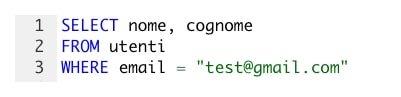 Esempio codice SQL